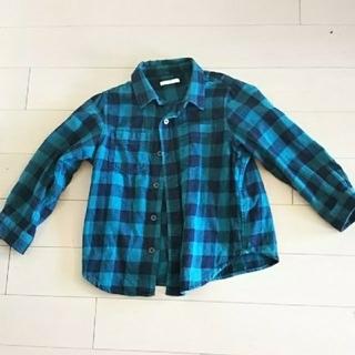 GU - GU 長袖チェックシャツ 110