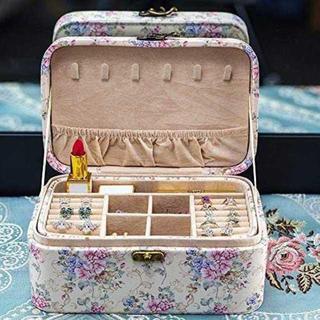 ジュエリーボックス アクセサリーケース 大容量 小物入れ宝石箱 取っ手付き ¥3