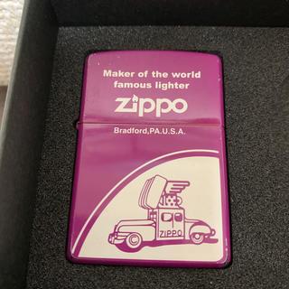 ジッポー(ZIPPO)のZIPPO zippo  ライター ジュン 紫 パープル 車 クラシカル(タバコグッズ)