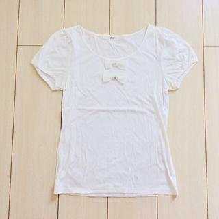 エフデ(ef-de)の格安!ef-de エフデ*リボン Tシャツ(カットソー(半袖/袖なし))
