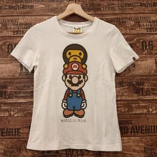 アベイシングエイプ(A BATHING APE)のエイプ ベイビーマイロ スーパーマリオ  ダブルネームTシャツ(Tシャツ(半袖/袖なし))