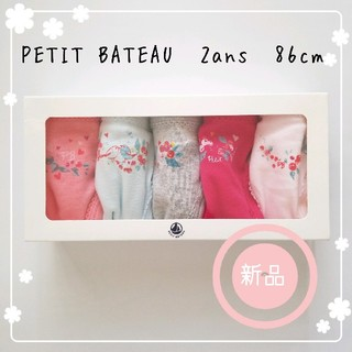 PETIT BATEAU - ♡プチバトー フラワーモチーフショーツ5枚組 2ans 86cm♡