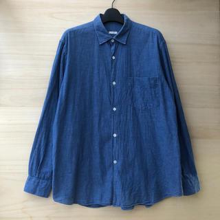 COMOLI - comoli ベタシャンコモリシャツ サイズ1 ブルー