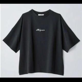 しまむら - しまむら*プチプラのあや*ロゴTシャツ*ブラック*Lサイズ