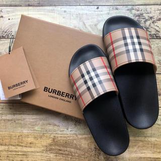 BURBERRY - 新品 BURBERRY バーバリー FURLEY PVC チェックサンダル