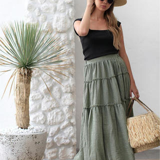 room306 CONTEMPORARY - Tiered Design Maxi Skirt