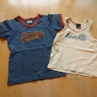 ベベ(BeBe)の男の子 夏用100㎝ コムサイズムランニング&BeBeTシャツ 2枚セット(Tシャツ/カットソー)