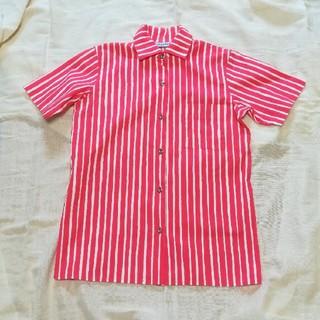 マリメッコ(marimekko)のマリメッコ marimekko ヨカポイカ ストライプ 半袖シャツ(シャツ/ブラウス(半袖/袖なし))
