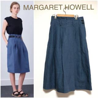 MARGARET HOWELL - 美品 マーガレットハウエル MHL リネンスカート 麻スカート
