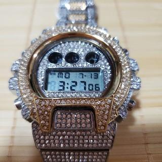 Gスタイルショック LEDデジタルメンズ腕時計 18カラットゴールド(腕時計(デジタル))