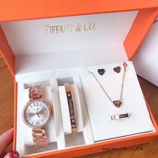Tiffany & Co. - Tiffany&Co 腕時計 ネックレス ブレスレット ピアス 指輪 5点セッ