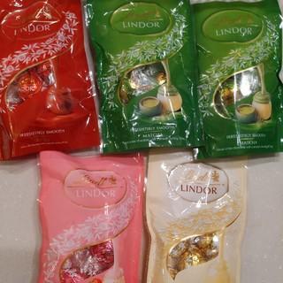 リンツ(Lindt)のリンツリンドールチョコ 5袋(菓子/デザート)