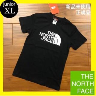 THE NORTH FACE - 新品 ノースフェイス キッズ Tシャツ 子ども 黒 XL (レディースL相当)