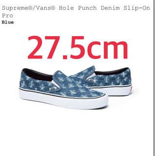 シュプリーム(Supreme)のsupreme シュプリーム Hole punch denim vans バンズ(スリッポン/モカシン)