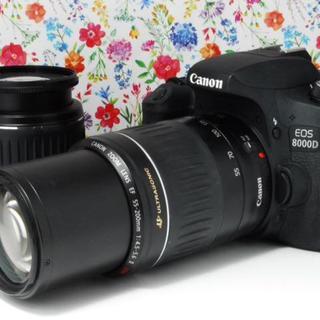 キヤノン(Canon)の【超人気★】キャノン Canon EOS 8000D ダブルレンズ セット(デジタル一眼)