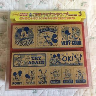 Disney - ⭐️新品⭐️ 木製ごほうびスタンプ ミッキー(木箱入り)