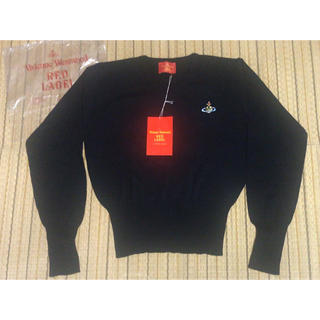 Vivienne Westwood - ヴィヴィアン ウエストウッド 黒Vネックセーター ブラック 新品未使用