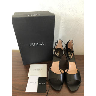 Furla - 新品タグ付46,200円☆フルラ☆ブラック ウェッジソール サンダル