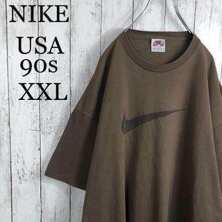 NIKE - 【希少カラー&サイズ】 ナイキ USA製 90s 刺繍プリント Tシャツ XXL