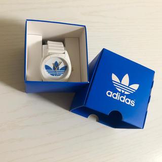 アディダス(adidas)のアディダス時計白(腕時計(デジタル))