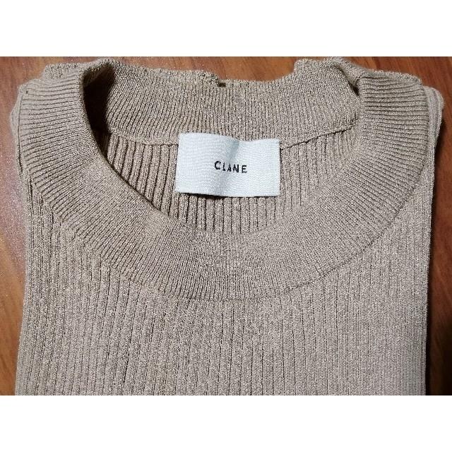 CLANE  リブニットトップス ノーマルネック レディースのトップス(ニット/セーター)の商品写真