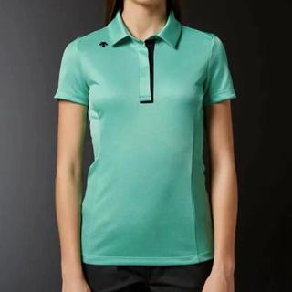 デサント(DESCENTE)のL 新品 定価15120円 レディース デサント 半袖 ポロシャツ 緑(ウエア)