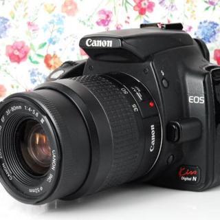 キヤノン(Canon)の【Wi-Fiセット!】Canon Kiss N レンズキット キャノン(デジタル一眼)