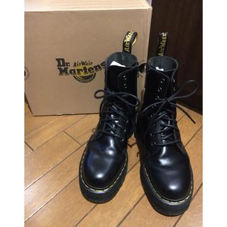 ドクターマーチン(Dr.Martens)のドクターマーチン JADON ブラック ダブルソール 8ホール インサイドジップ(ブーツ)