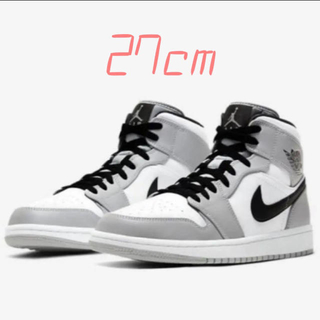 NIKE - NIKE AIR JORDAN 1 MID SMOKE GREY 27cm