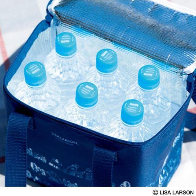 Lisa Larson(リサラーソン)のリサ・ラーソン ☆大容量保冷バッグ&ペットボトルホルダー インテリア/住まい/日用品のキッチン/食器(弁当用品)の商品写真
