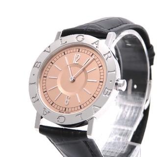 BVLGARI - 【BVLGARI】ブルガリ腕時計 'BB33SL' ☆サーモンピンク文字盤☆
