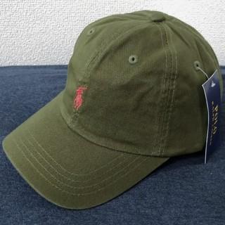 POLO RALPH LAUREN - 新品タグ付き ポロ・ラルフローレン 帽子 オリーブ/レッドポニー 高品質