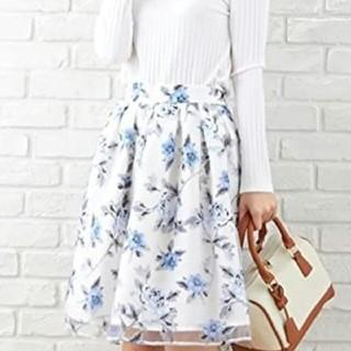 イング(INGNI)の花柄オーガンジースカート(ひざ丈スカート)