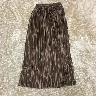 dholic - DHOLIC グロッシープリーツロングスカート