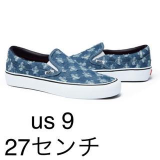 シュプリーム(Supreme)のsupreme vans hole punch denim slipon 9(スリッポン/モカシン)