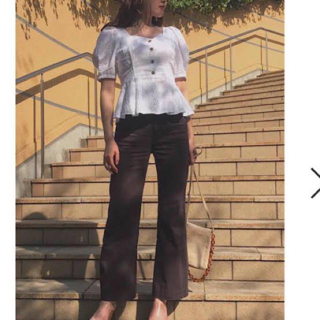 snidel(スナイデル)のコットンレースブラウス レディースのトップス(シャツ/ブラウス(半袖/袖なし))の商品写真