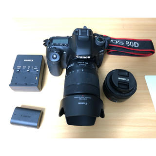 Canon - Canon EOS 80D レンズ2本 リモコン付き 美品