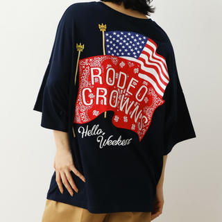 RODEO CROWNS WIDE BOWL - バンダナフラッグTシャツ