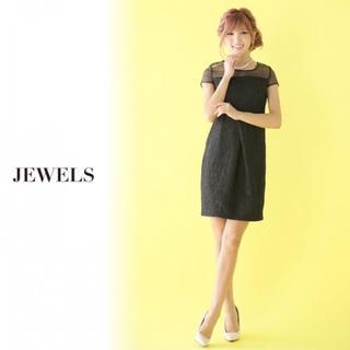 ジュエルズ(JEWELS)の✨新品✨ ブラックレースが大人女子感溢れる タイトワンピース(ミニドレス)