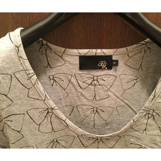 エックスジー(xg)のXG リボン柄 ポケット付きTシャツ(エックスガール X-girl トップス(Tシャツ(半袖/袖なし))