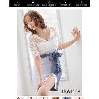 ジュエルズ(JEWELS)のリボンドレス/刺繍フラワーレース/マルチカラー/キャバドレス(ナイトドレス)