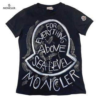 モンクレール(MONCLER)の新品モンクレール ロックテイスト Tシャツ 黒 #XS MONCLER(Tシャツ(半袖/袖なし))