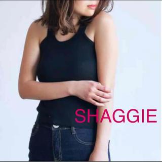 Auntie Rosa - 新品 SHAGGIE シャギー ニット キャミソール タンクトップ ブラック