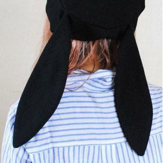 うさ耳 ベレー帽 レディース ラビット 耳つき 垂れ耳 可愛い ガーリー 仮装(ハンチング/ベレー帽)