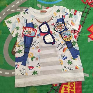 mikihouse - ミキハウス だまし絵 Tシャツ 90