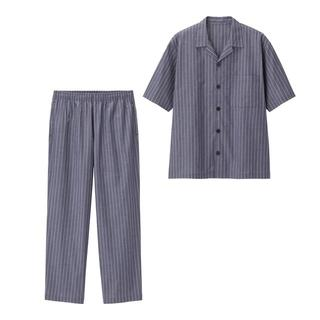 GU - GU ジーユー パジャマ(ストライプ・半袖)