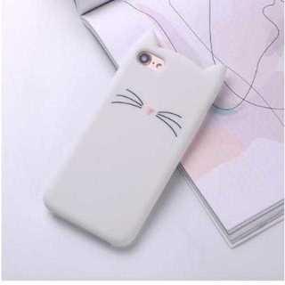 【iPhone7/8用】 白猫シロコンケース(*'ω'*)