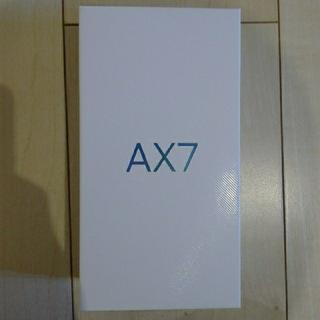 アンドロイド(ANDROID)のOPPO AX7 SIMフリー(スマートフォン本体)