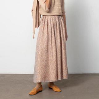 Drawer - Drawer シルクフラワープリントロングスカート