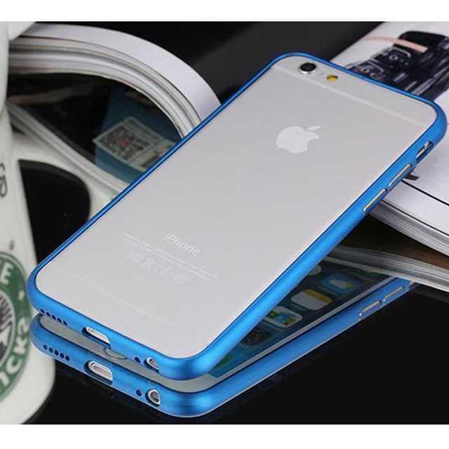 iPhone6plus/6splus 青 アルミバンパー 金属 バンパー バンパ スマホ/家電/カメラのスマホアクセサリー(モバイルケース/カバー)の商品写真